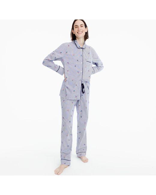 J.Crew | Blue Skiers Pajama Set | Lyst