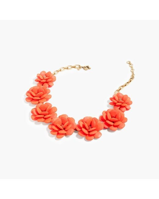 J.Crew   Red Rose Wreath Necklace   Lyst