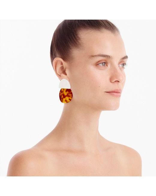 J.Crew - Multicolor Tortoiseshell Statement Earrings - Lyst
