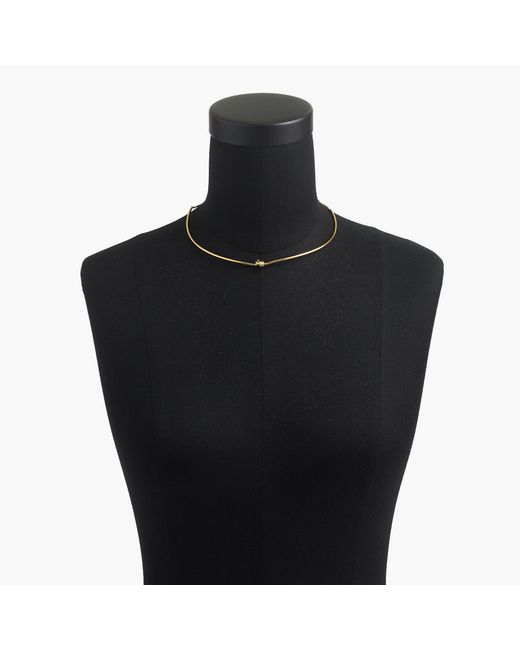J.Crew - Metallic Demi-fine 14k Gold-plated Knot Collar Necklace - Lyst