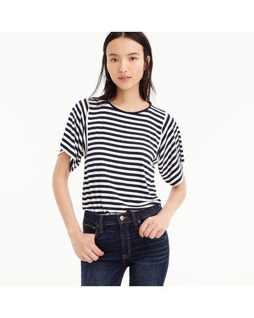 J.Crew - Blue Mixed Stripe T-shirt - Lyst