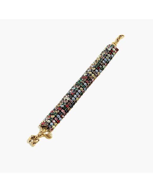 J.Crew Metallic Crystal Chain Bracelet