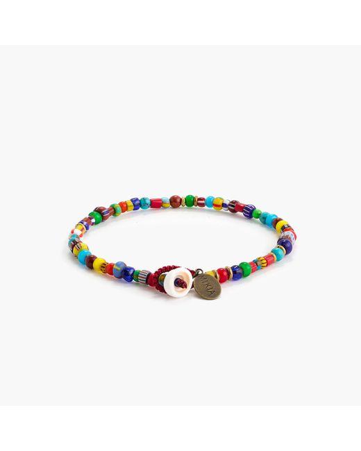 J.Crew | Blue Mikia Glass Bead Bracelet | Lyst