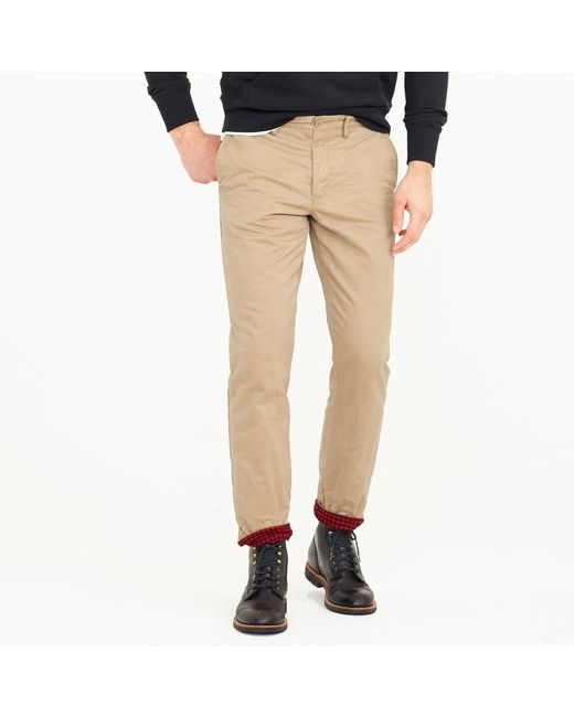 J.Crew | Natural 770 Chino Cabin Pant for Men | Lyst