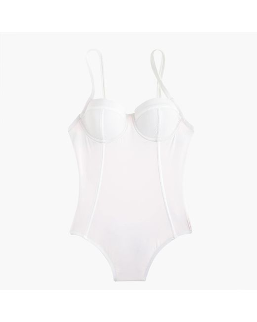 J.Crew | White Demi Underwire One-piece Swimsuit | Lyst