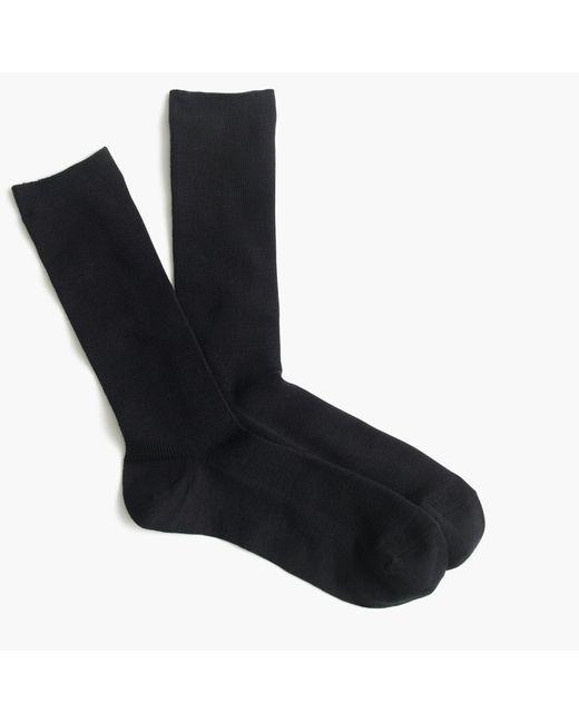 J.Crew Black Ribbed Trouser Socks