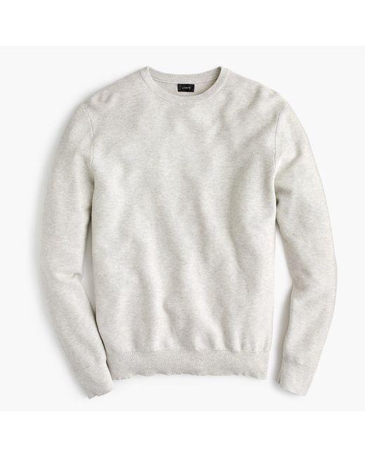 J.Crew - Multicolor Cotton Crewneck Sweater In Garter Stitch for Men - Lyst