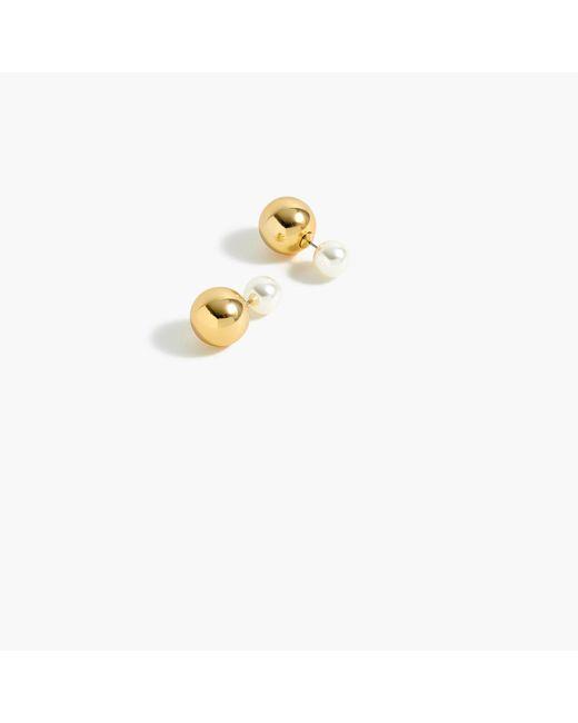 J.Crew - Metallic Reversible Stud Earrings - Lyst