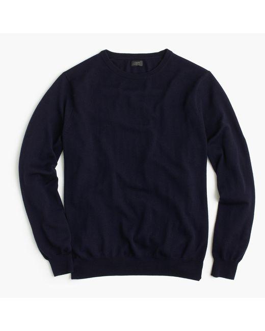 J.Crew | Blue Merino Wool Crewneck Sweater for Men | Lyst