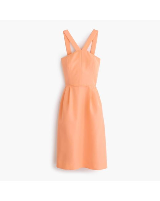 J.Crew | Orange Lexie Dress In Classic Faille | Lyst
