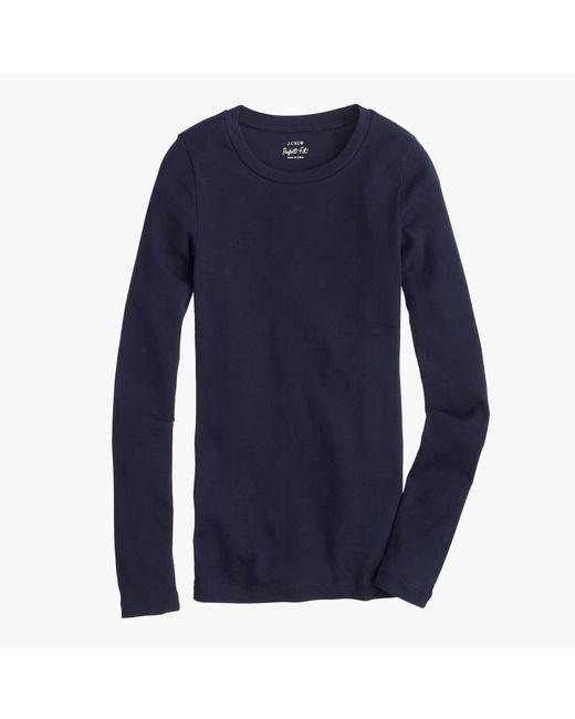 J.Crew | Blue Perfect-fit Long-sleeve T-shirt | Lyst