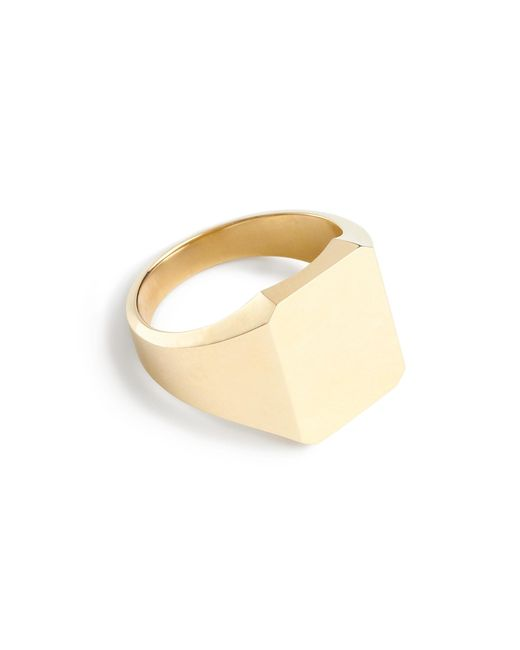 J.Crew | Metallic 14k Gold Square Signet Ring | Lyst