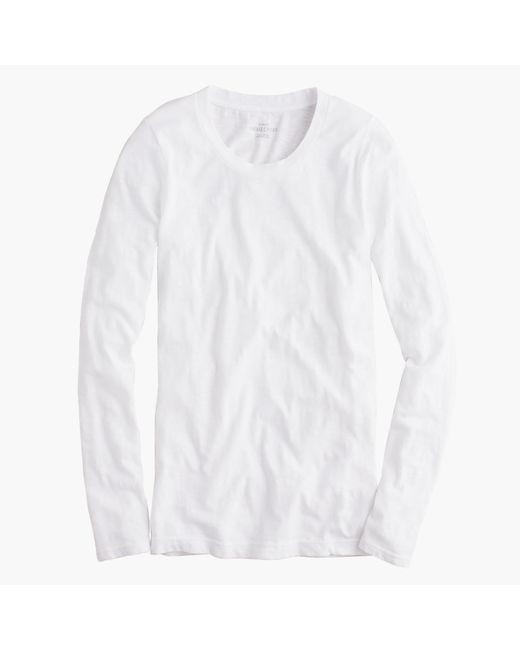 J.Crew | White Vintage Cotton Long-sleeve T-shirt | Lyst