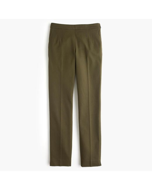 J.Crew | Green Martie Pant In Bi-stretch Cotton | Lyst