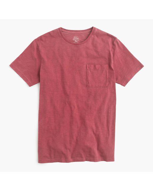 J.Crew | Red Slim Garment-dyed T-shirt for Men | Lyst