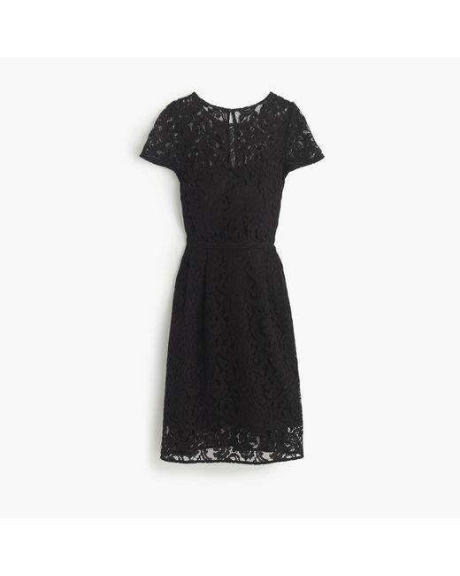 J.Crew | Black Alisa Dress In Leavers Lace | Lyst