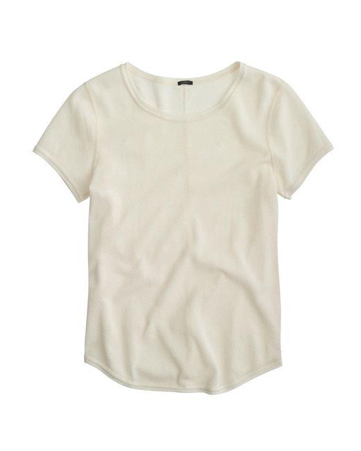 J.Crew | Natural Cotton Netting T-shirt | Lyst