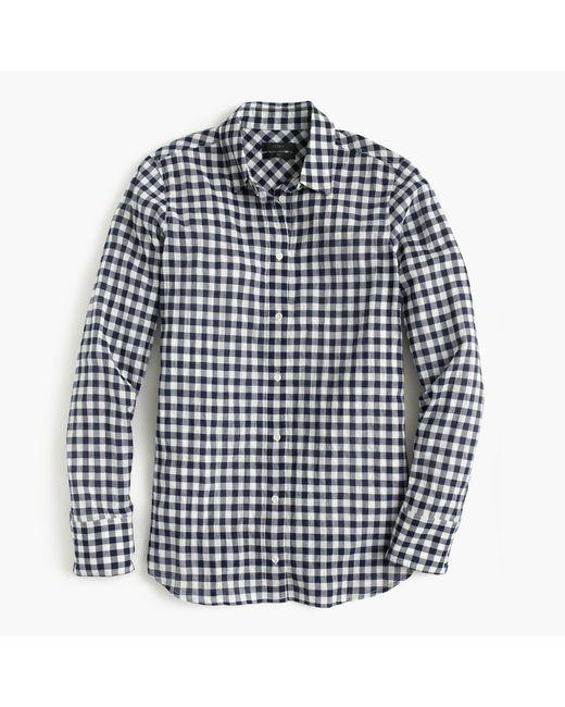 J.Crew   Black Boy Shirt In Crinkle Gingham   Lyst