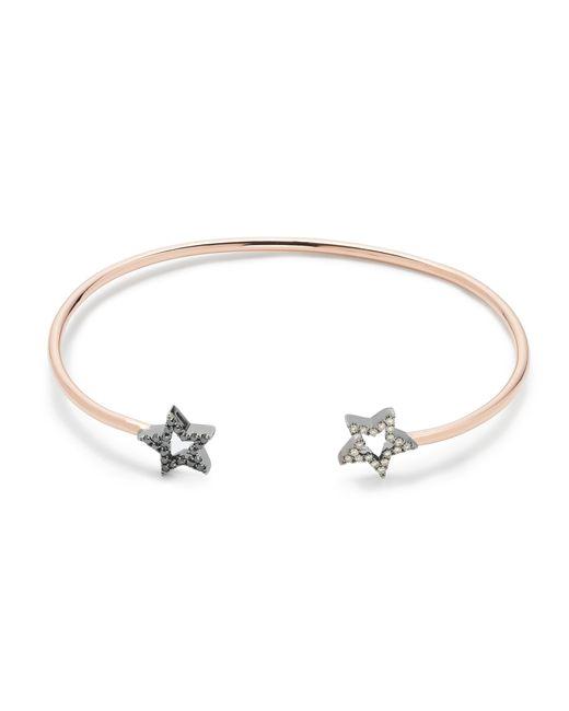 J.Crew   Metallic Rosa De La Cruz London 18k Gold And Diamond Double Star Bracelet   Lyst