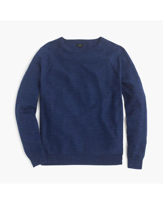 J.Crew | Blue Tall Rugged Cotton Sweater | Lyst