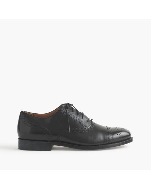 J.Crew | Black Ludlow Semi-brogue Oxfords for Men | Lyst