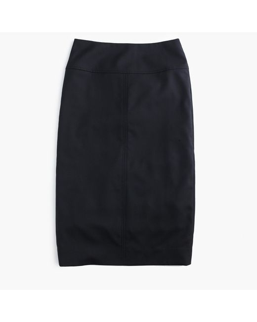J.Crew | Black Director Pencil Skirt In Super 120s Wool | Lyst