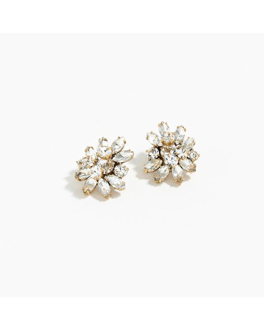 J.Crew | Metallic Crystal Burst Earrings | Lyst
