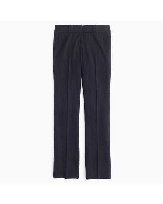 J.Crew | Blue Petite Campbell Trouser In Pinstripe Super 120s Wool | Lyst