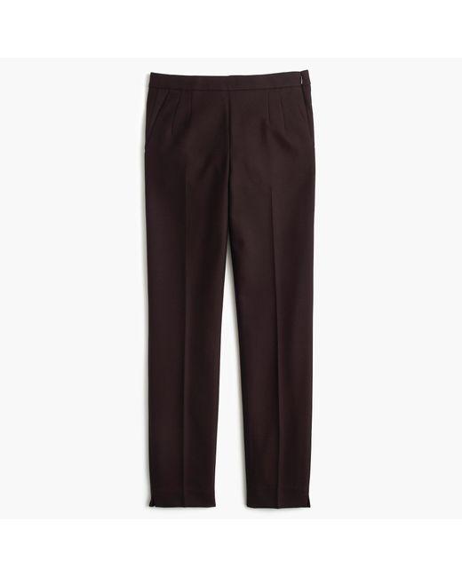 J.Crew | Brown Petite Martie Pant In Bi-stretch Wool | Lyst