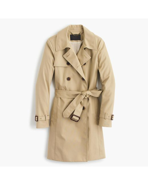 J.Crew | Natural Petite Icon Trench Coat | Lyst