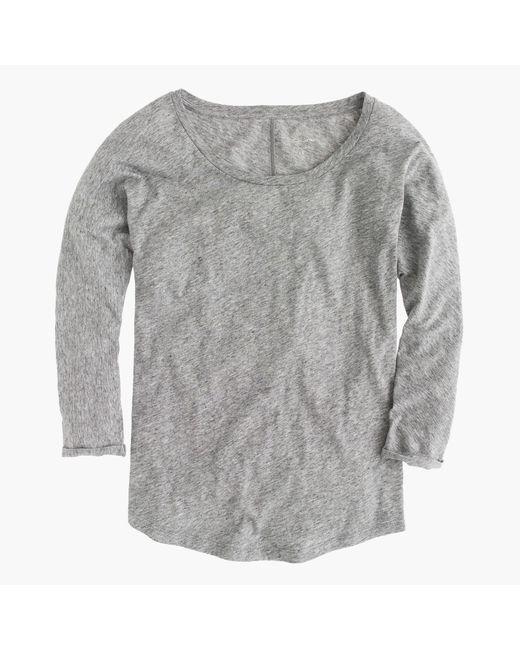 J.Crew | Gray Vintage Cotton Dolman T-shirt | Lyst