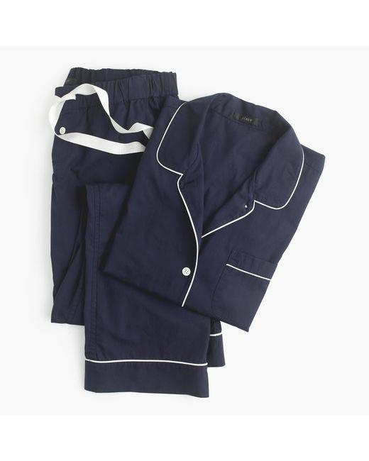 J.Crew | Blue Petite Vintage Pajama Set | Lyst