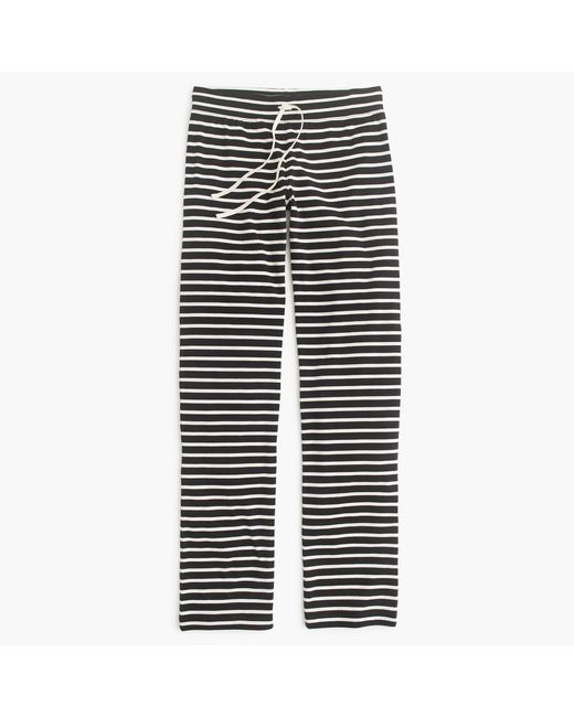 J.Crew | Black Dreamy Cotton Pant In Stripe | Lyst