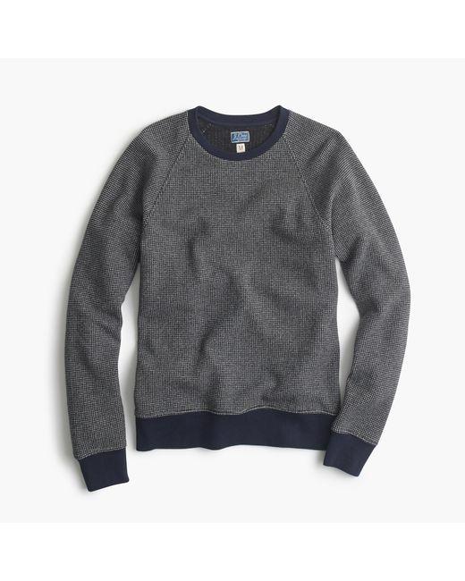 J.Crew | Blue Bird's-eye Sweatshirt for Men | Lyst