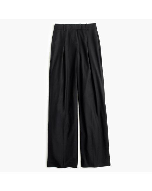J.Crew | Blue Petite Wide-leg Pant In Wool | Lyst