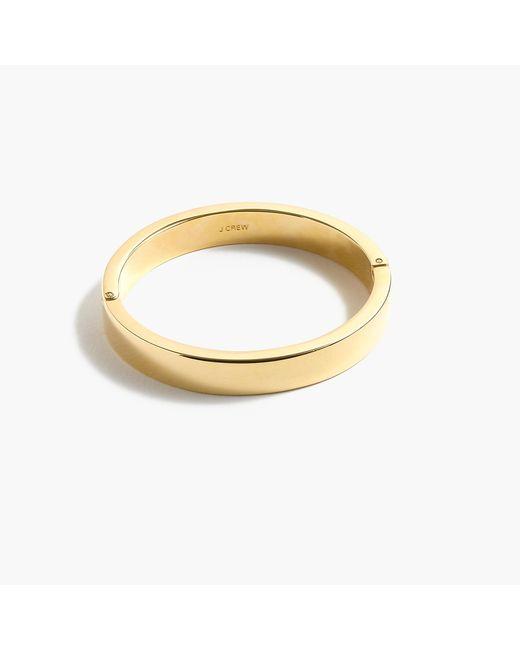 J.Crew   Green Gold-plated Hinge Bracelet   Lyst