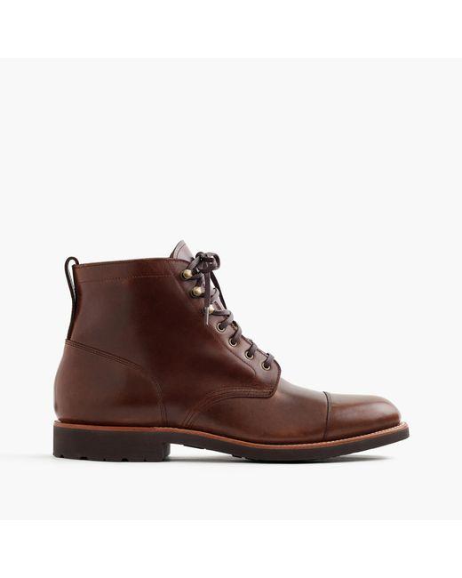 J.Crew | Multicolor Kenton Leather Cap-toe Boots for Men | Lyst