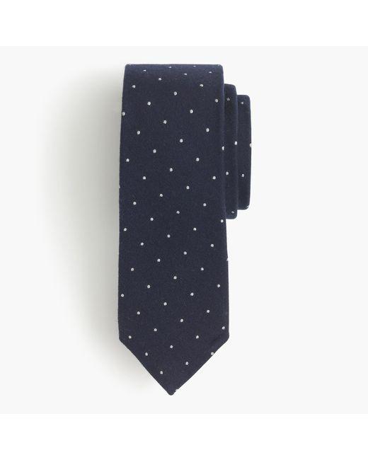 J.Crew | Blue English Wool-silk Tie In Polka Dot for Men | Lyst