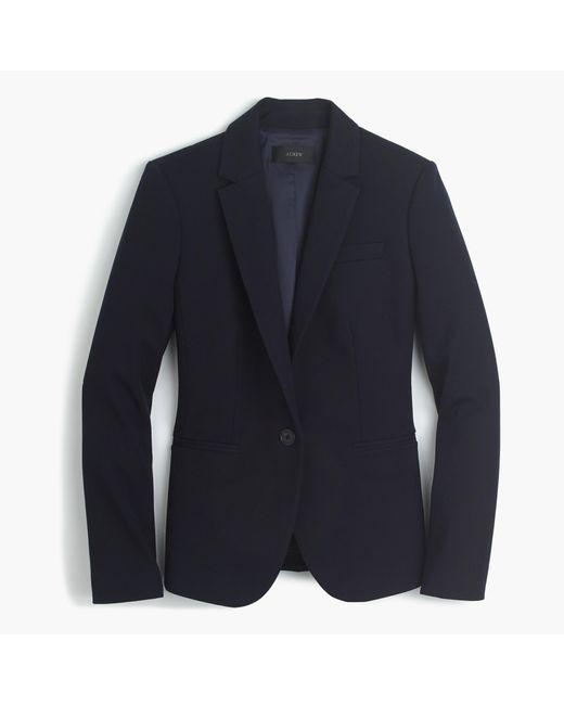 J.Crew | Blue Petite Campbell Blazer In Bi-stretch Cotton | Lyst