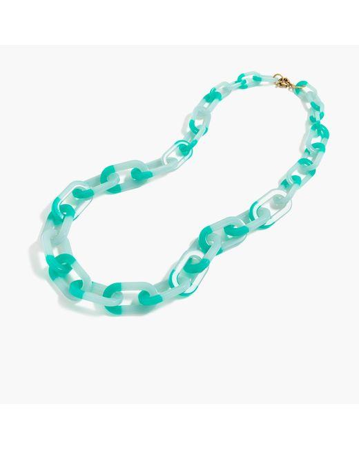 J.Crew | Blue Colorblock Oval Link Necklace | Lyst