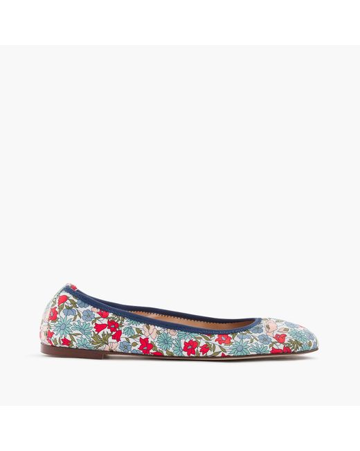 J.Crew | Blue Lea Ballet Flats In Liberty Poppy And Daisy Floral | Lyst