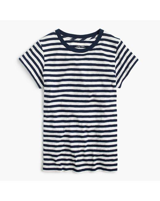 J.Crew | Blue Vintage Cotton Crewneck T-shirt In Stripe | Lyst