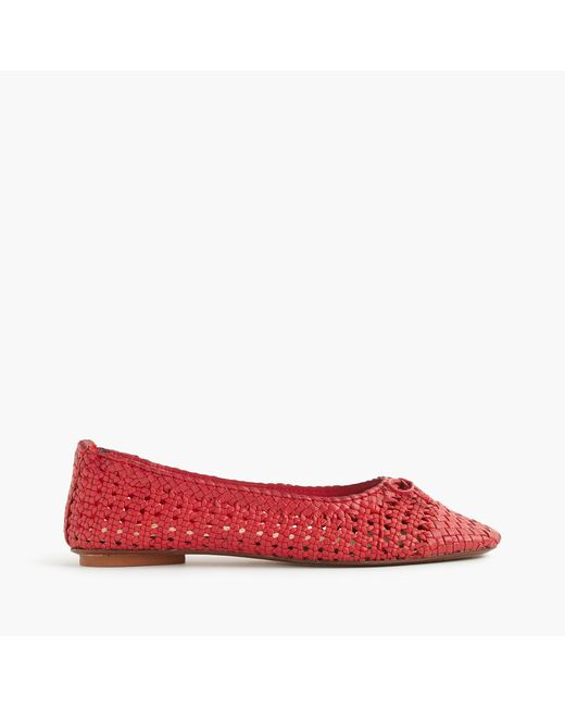 J.Crew   Red Dragon Diffusion Woven Ballet Flats   Lyst