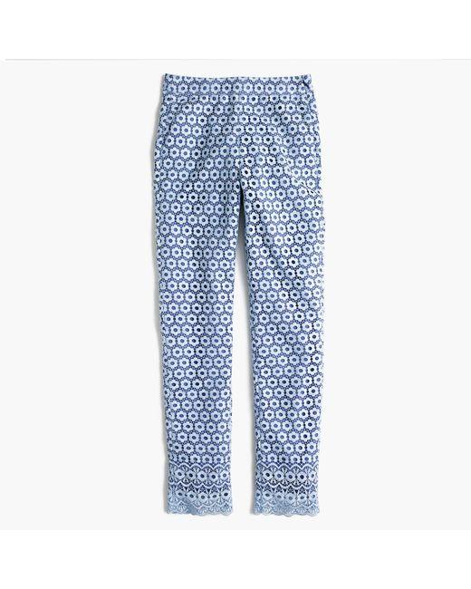 J.Crew | Blue Daisylace Pant | Lyst