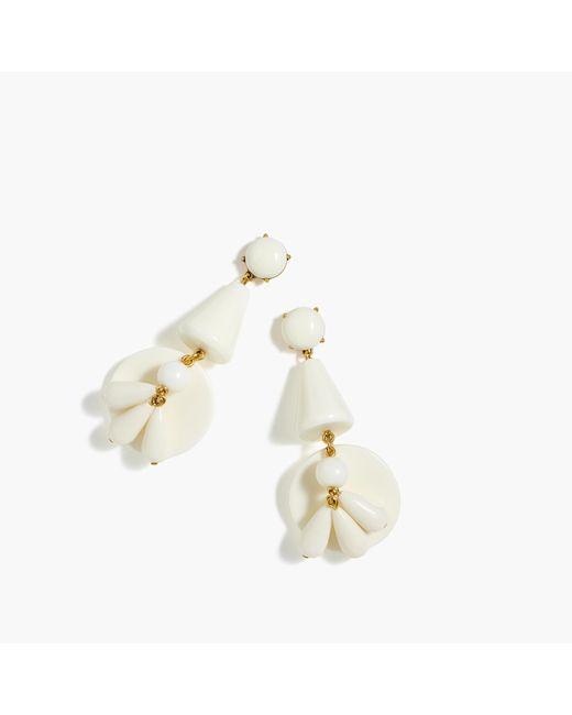 J.Crew | Multicolor Ivory Windbell Earrings | Lyst