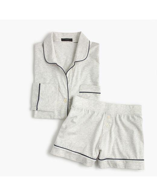 J.Crew - Multicolor Knit Pajama Set In Heather Cloud - Lyst