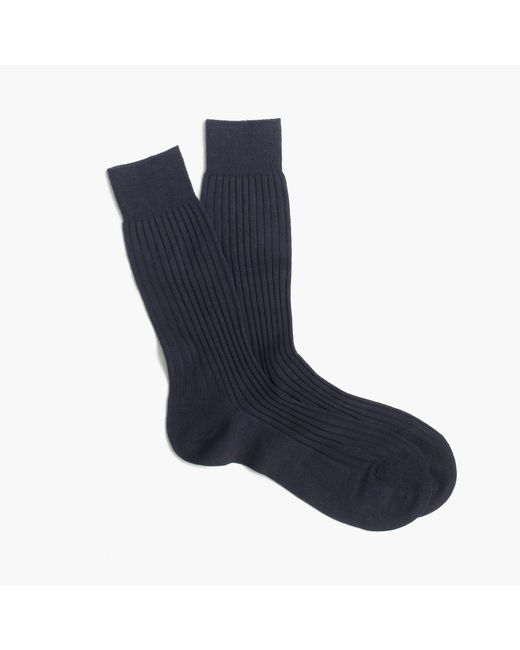 J.Crew | Blue Pantherella Merino Dress Socks for Men | Lyst