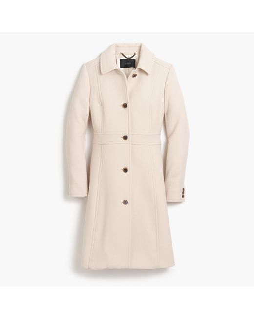 J.Crew | Natural Italian Double-cloth Wool Lady Day Coat With Thinsulate | Lyst