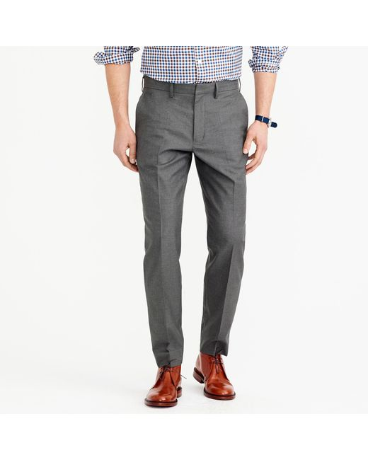 J.Crew | Gray Bowery Classic Pant In Heather Cotton Twill for Men | Lyst