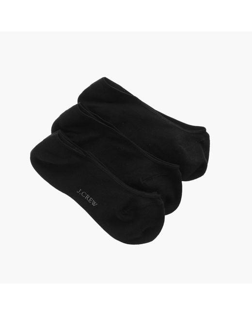 J.Crew | Black No-show Socks Three-pack | Lyst